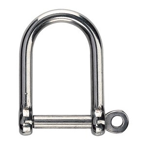 Wide Jaw Stainless Steel Dee Shackle (1pk)