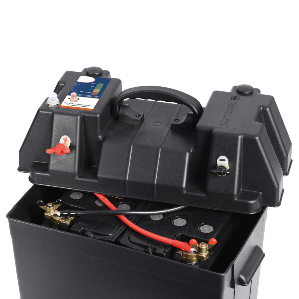 Battery Box with Quickfit Connections Tester & 12V Sockets