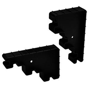 Hatch Wedge Pair - Black