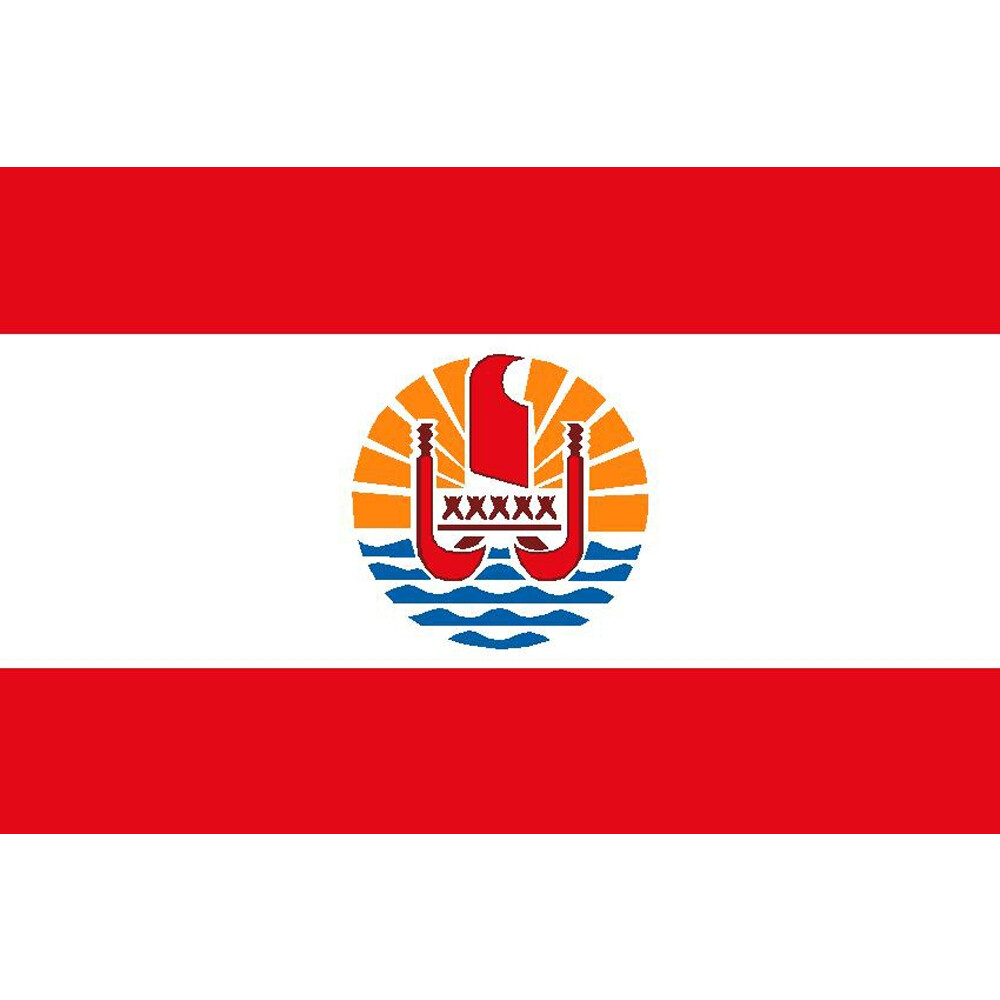 Courtesy Flag French Polynesia