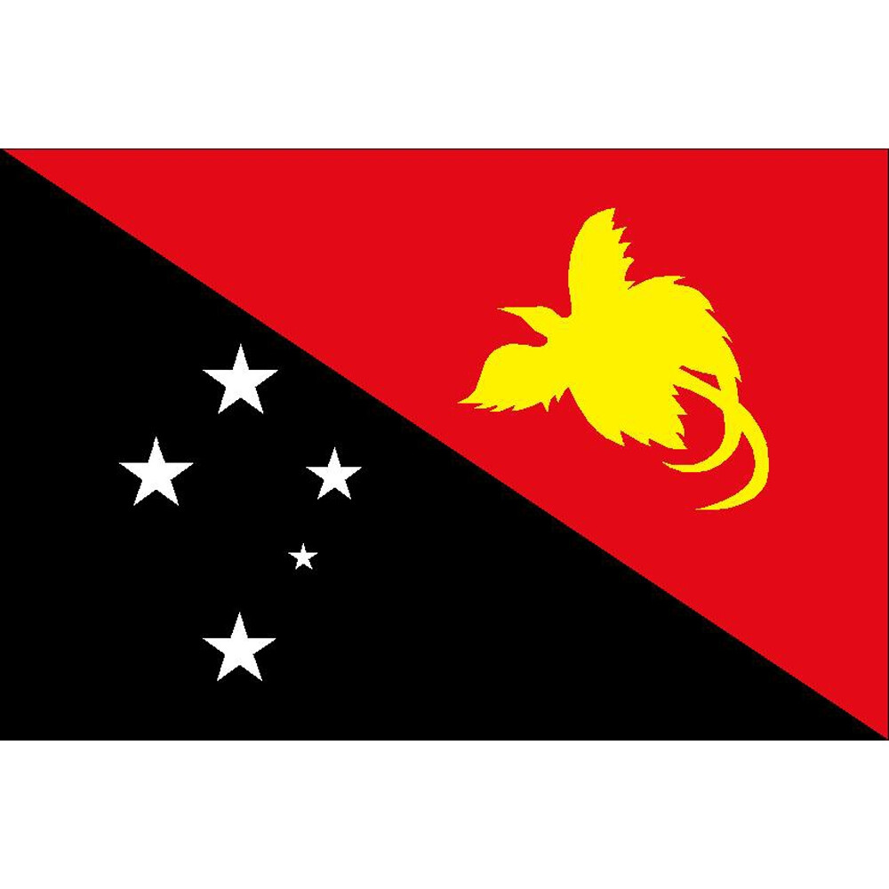 Courtesy Flag Papua New Guinea