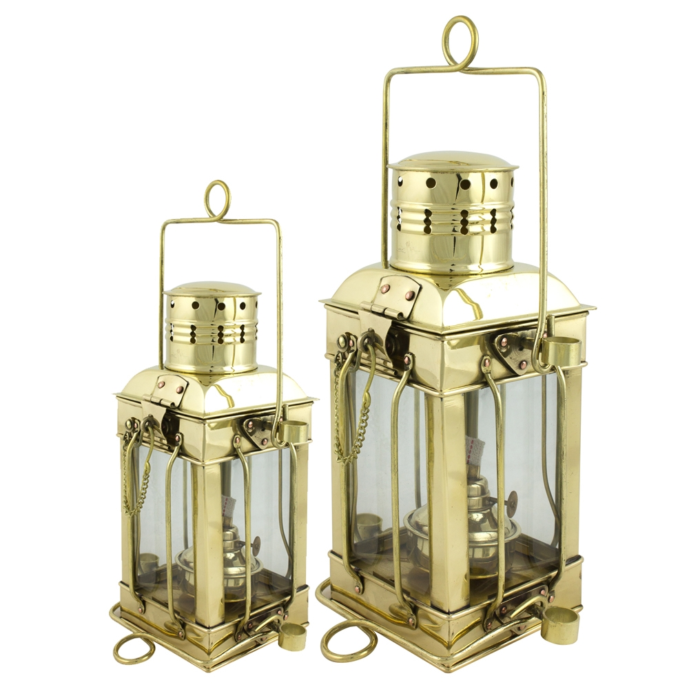 Square Cargo Lamps Brass