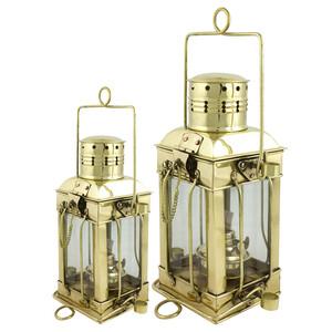 Square Cargo Oil Lamps Brass