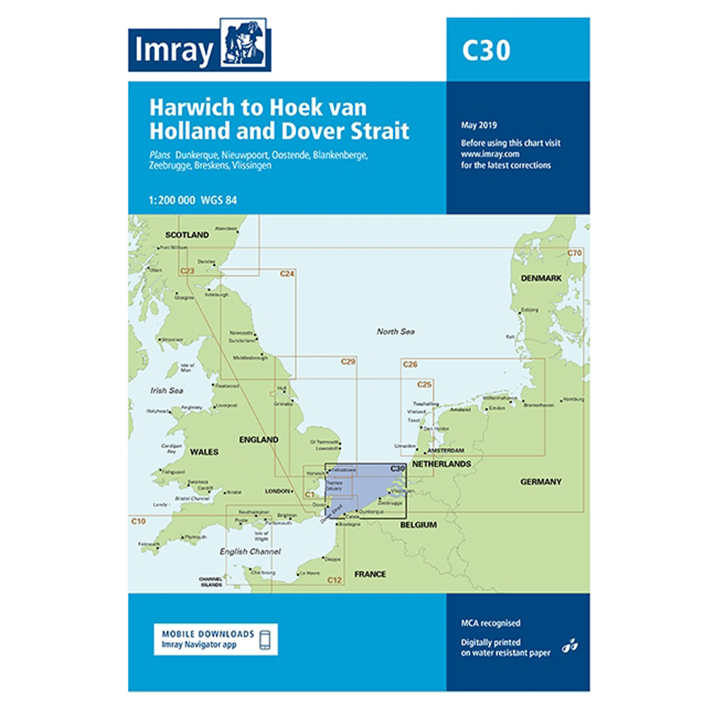 C30 Harwich to Hoek van Holland and Dover Strait