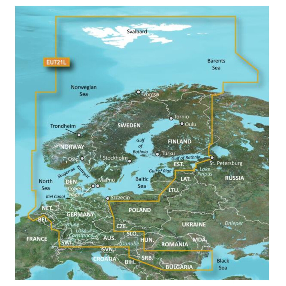 BlueChart g3 Vision Large - Northern Europe