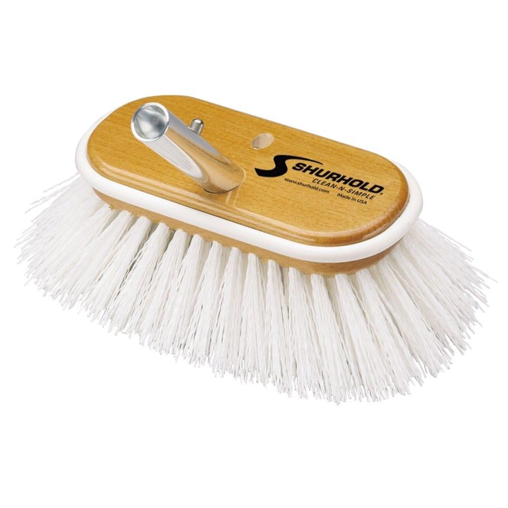 Stiff Brush White Polypropylene