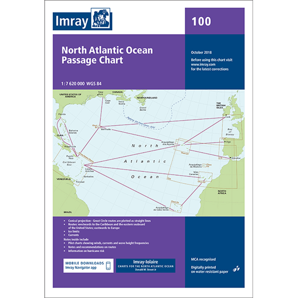 Chart 100 - North Atlantic Ocean Passage Chart