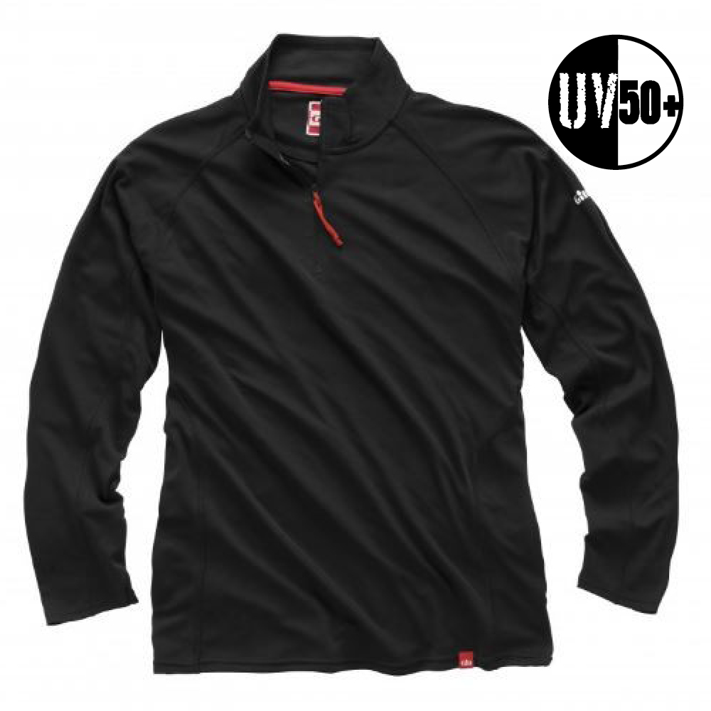 UV Tec Zip Neck L/S Top