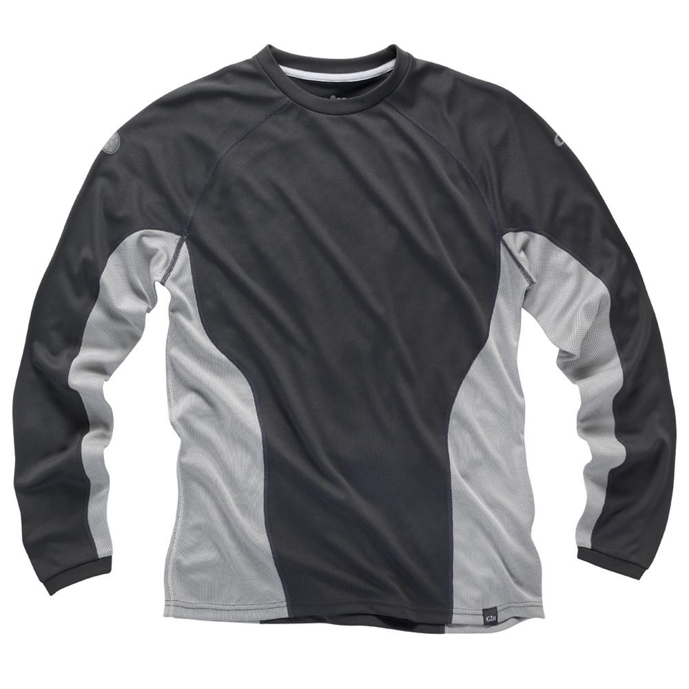 i2 Mens Long Sleeve T-Shirt in Ash and Silver