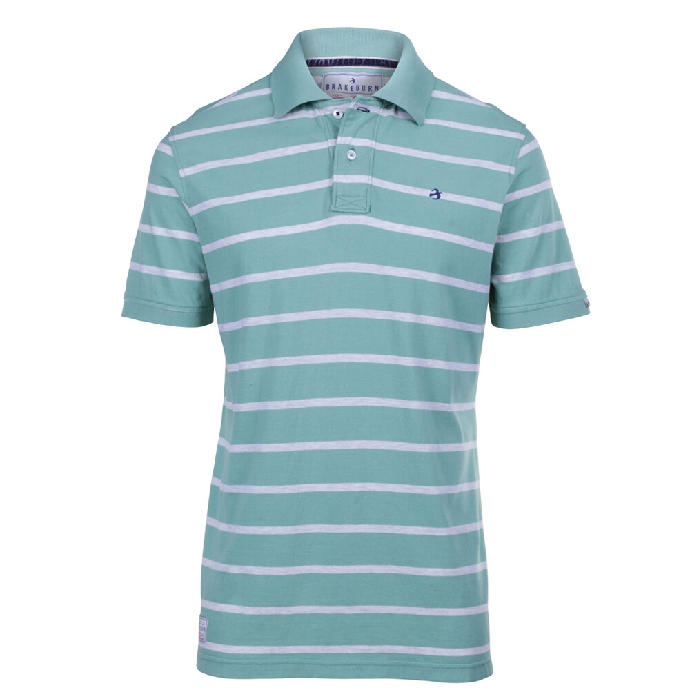 Stripe Polo Green