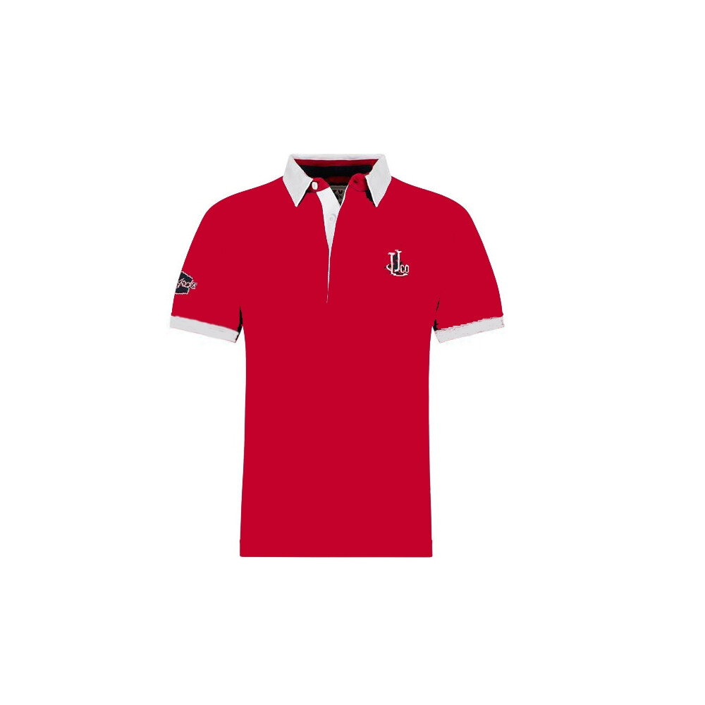 Short Sleeve Rugby Shirt - Red