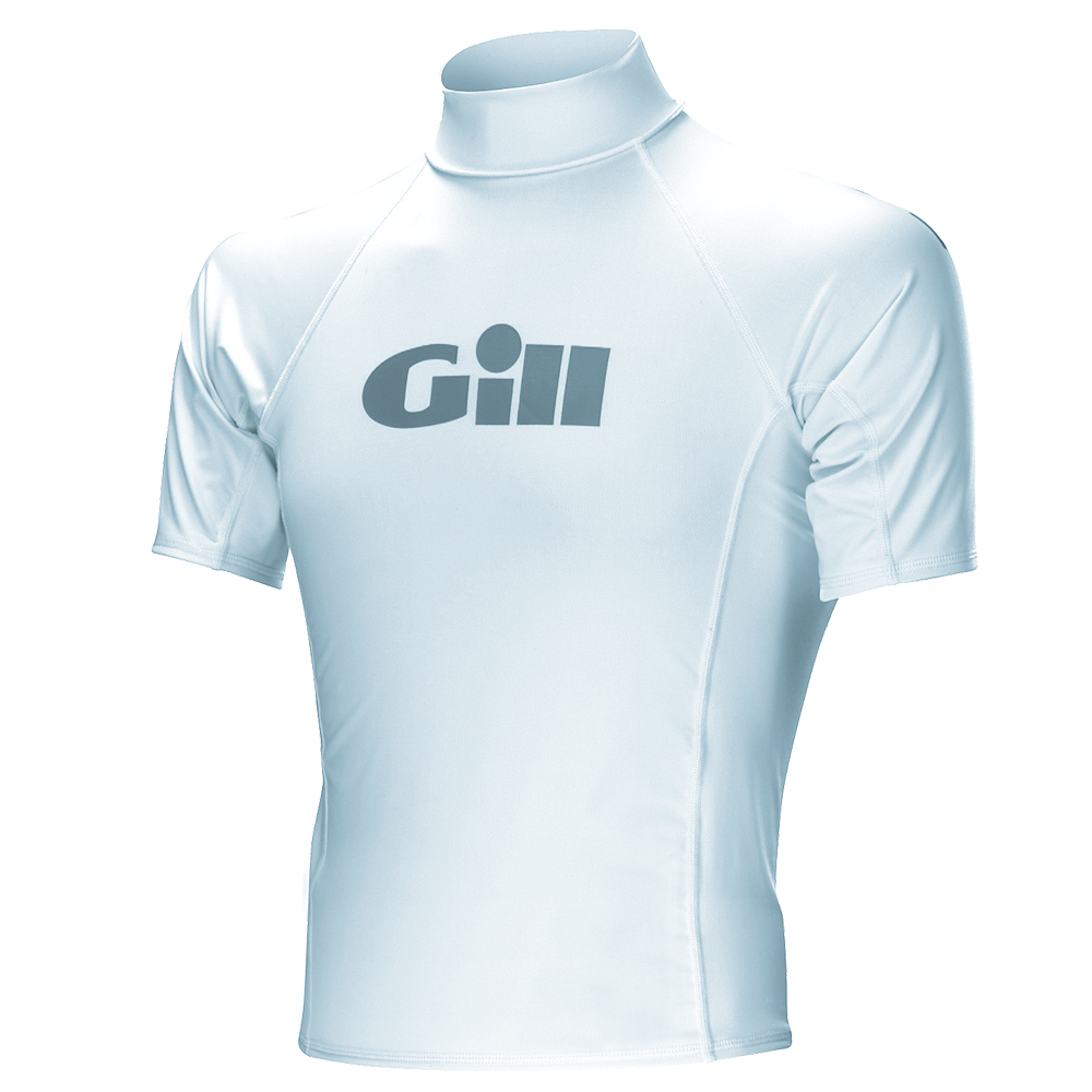 Gill Junior Rash Vests- Short Sleeve- White