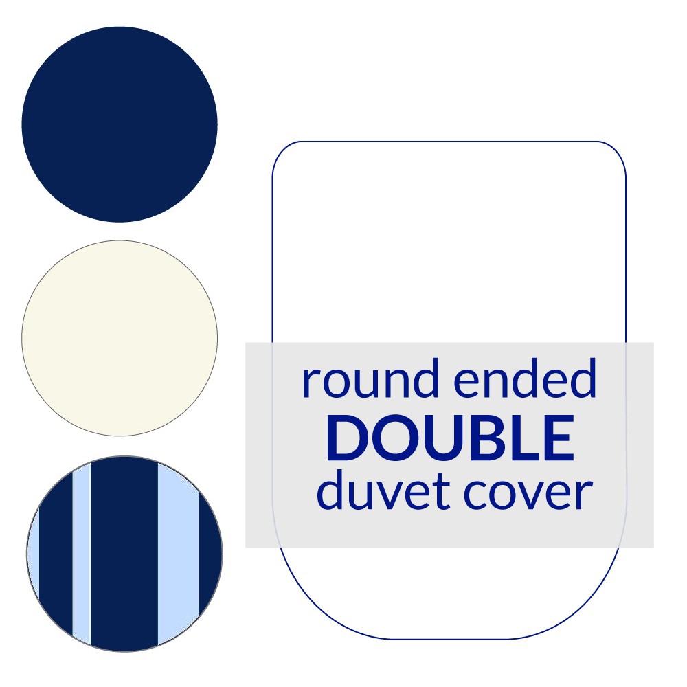 Round End Duvet Cover Double