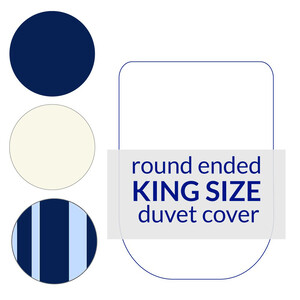 Round End Duvet Cover King Size