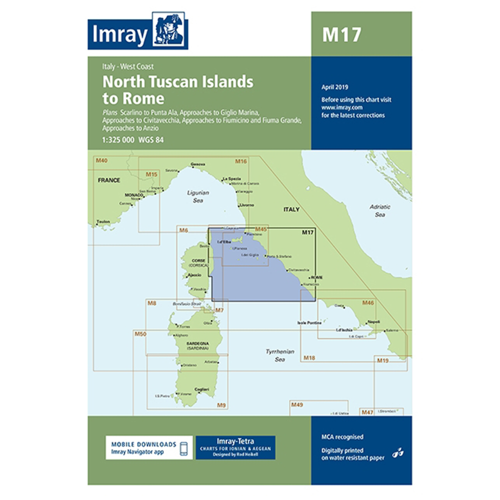 M17 North Tuscan Islands to Rome