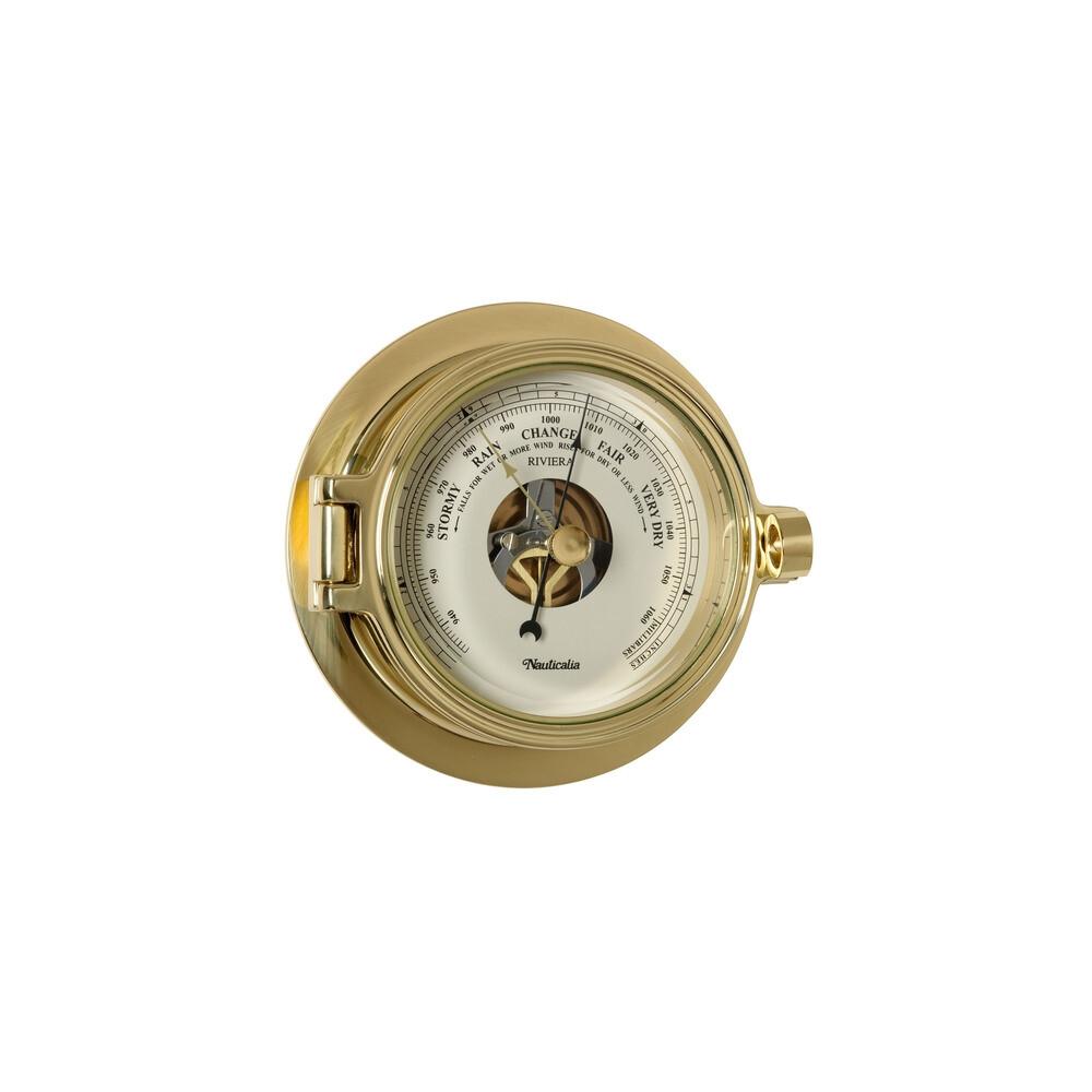 Riviera Brass 3 inch Clock & Barometer