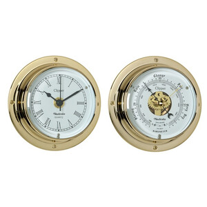 Clipper Brass 3 inch Clock & Barometer