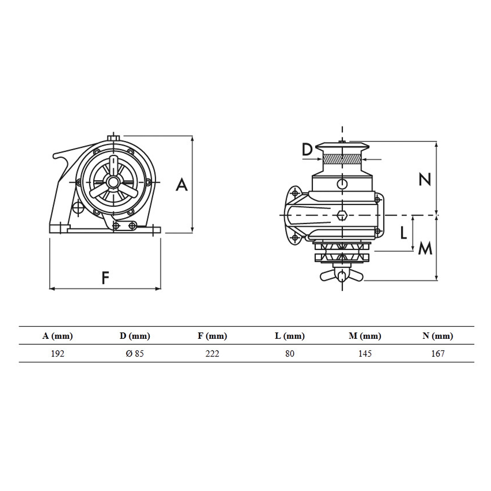 Royal Manual Windlass