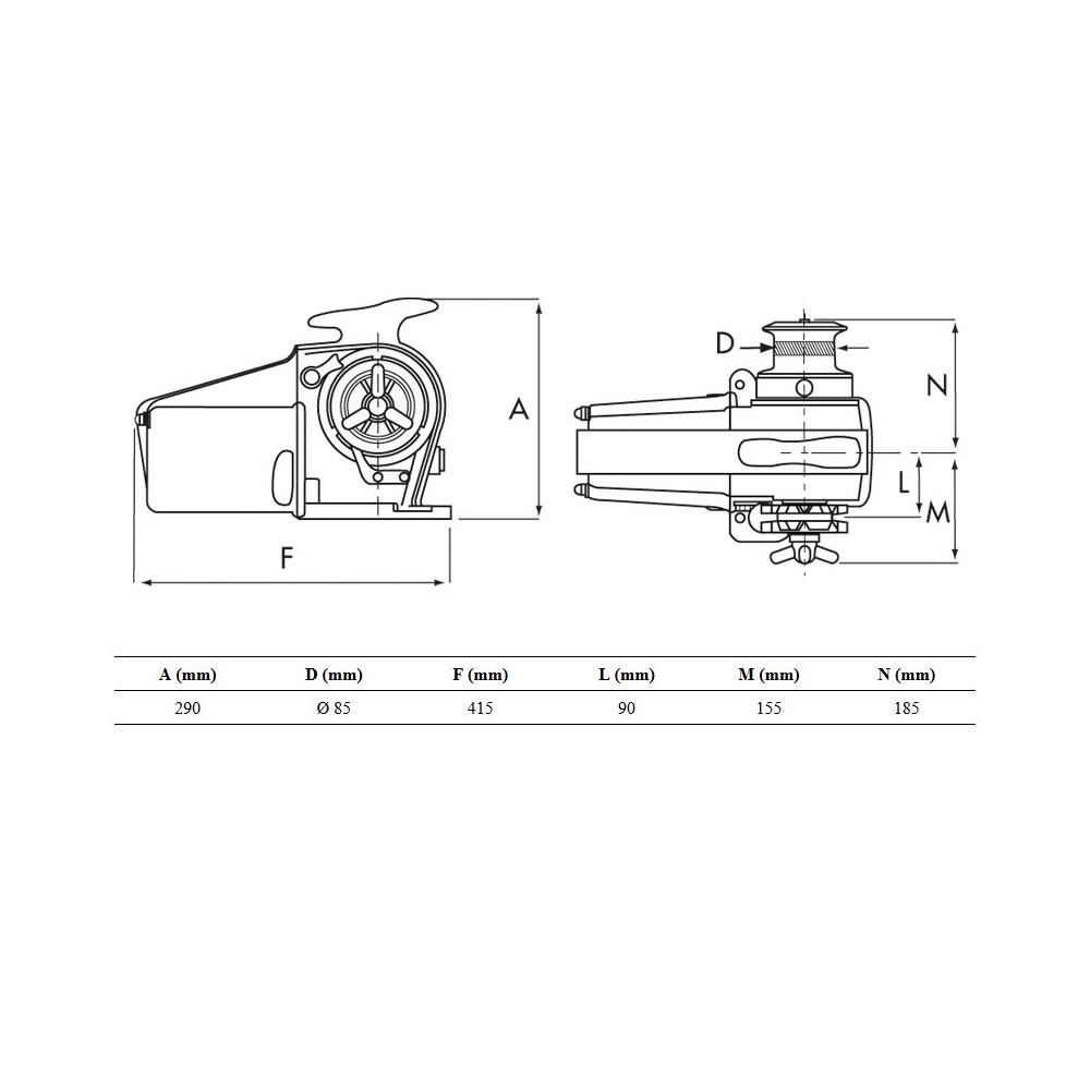 Tigres Windlass 12V 1500W