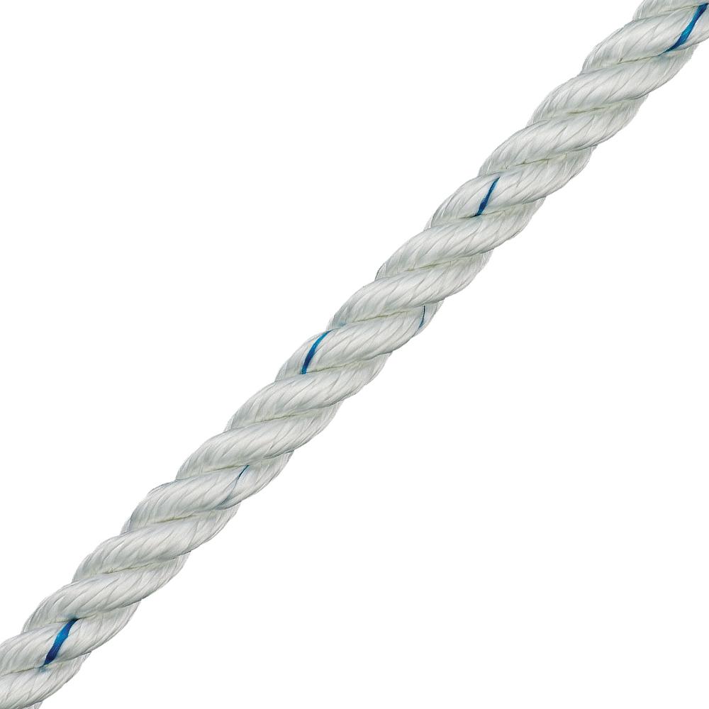 3 Strand Polyester Rope - White