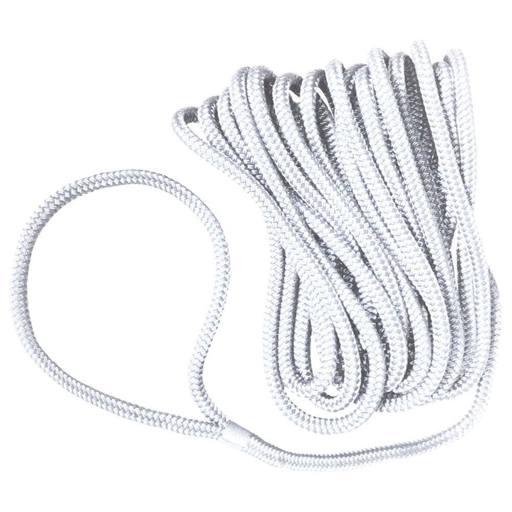Pre-Spliced Dockline Rope - White