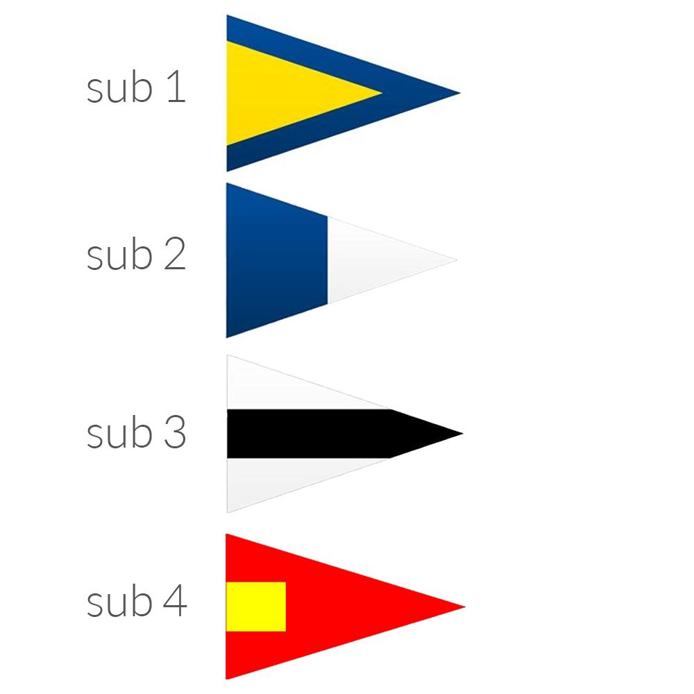 Substitute Pennant Flags