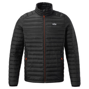 Men's Hydrophobe Down Jacket - Black-Orange