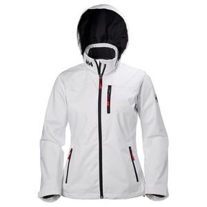 Women's Crew Hooded Midlayer Jacket - White
