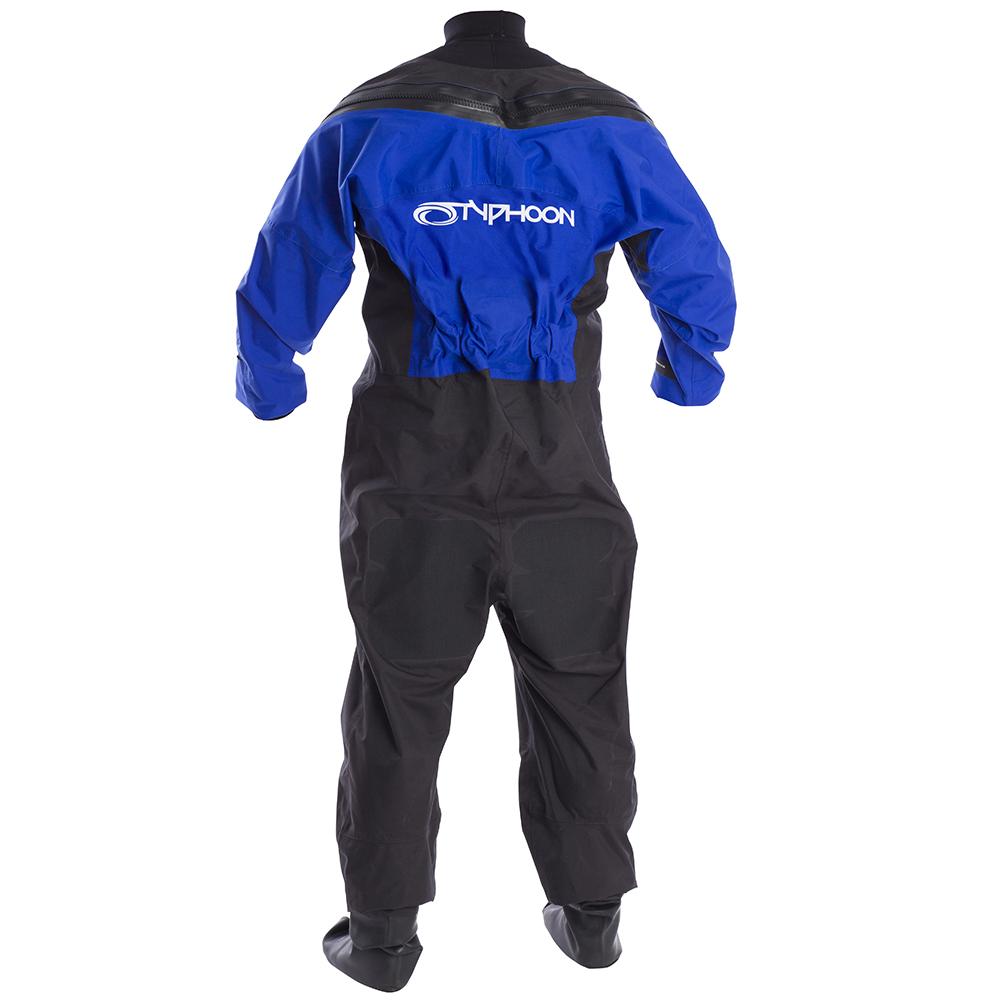 Hypercurve 4 Backzip Drysuit With Free Underfleece - Blue Black