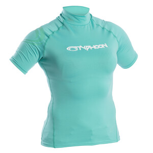 Womens Short Sleeve Rash Vest - Green