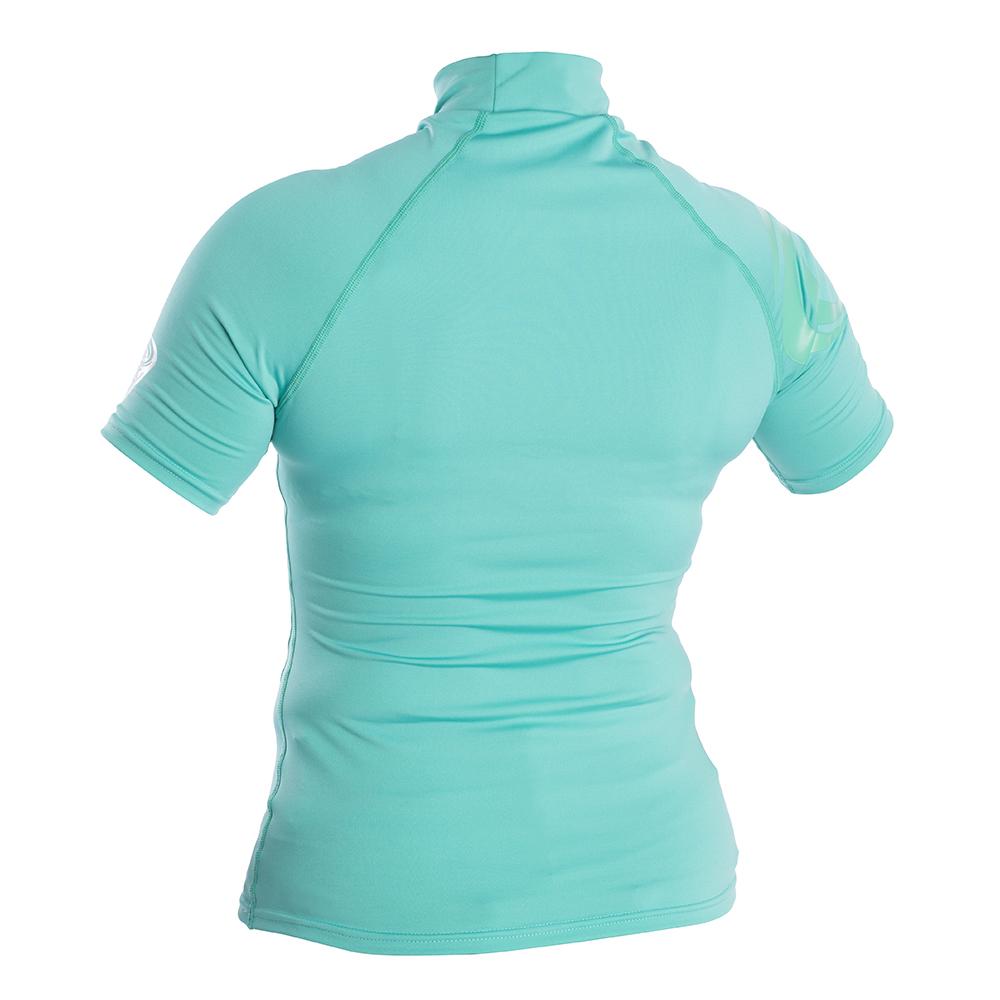 Womens Short Sleeve Rash Vest - Green