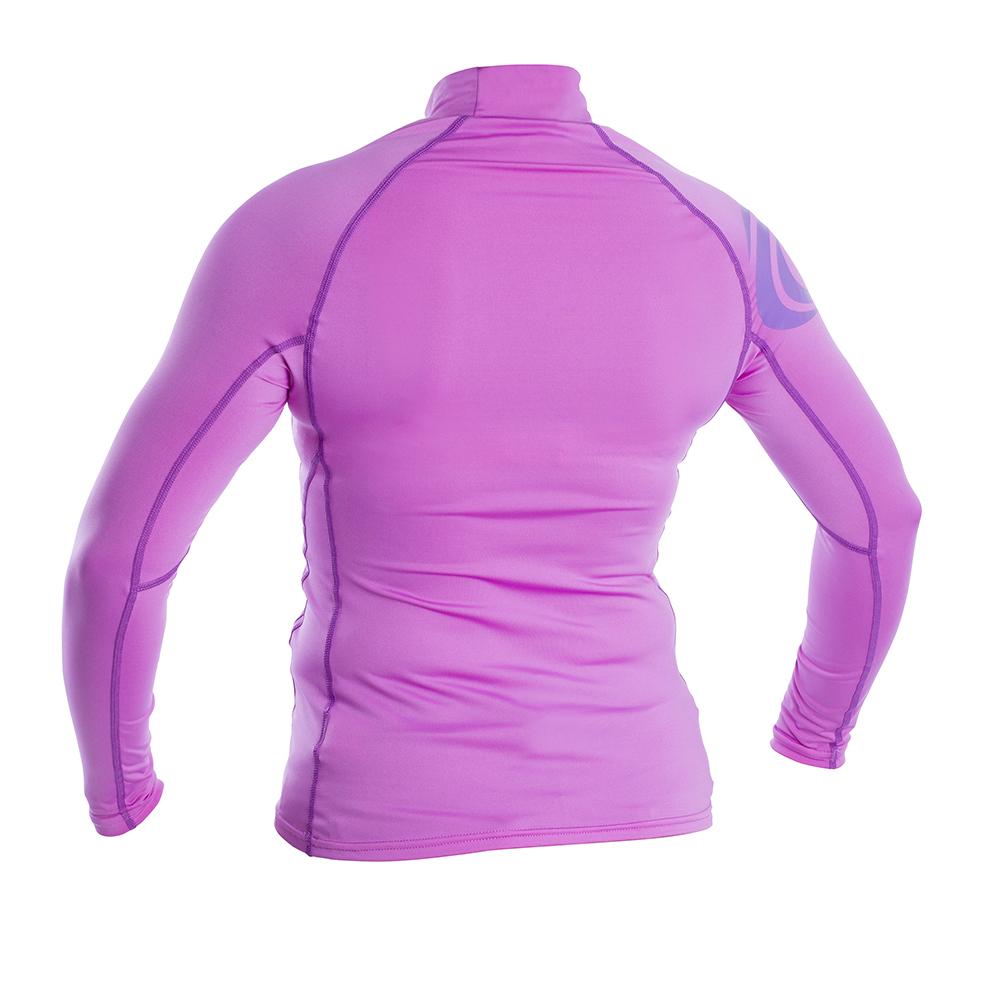 Womens Long Sleeve Rash Vest - Pink