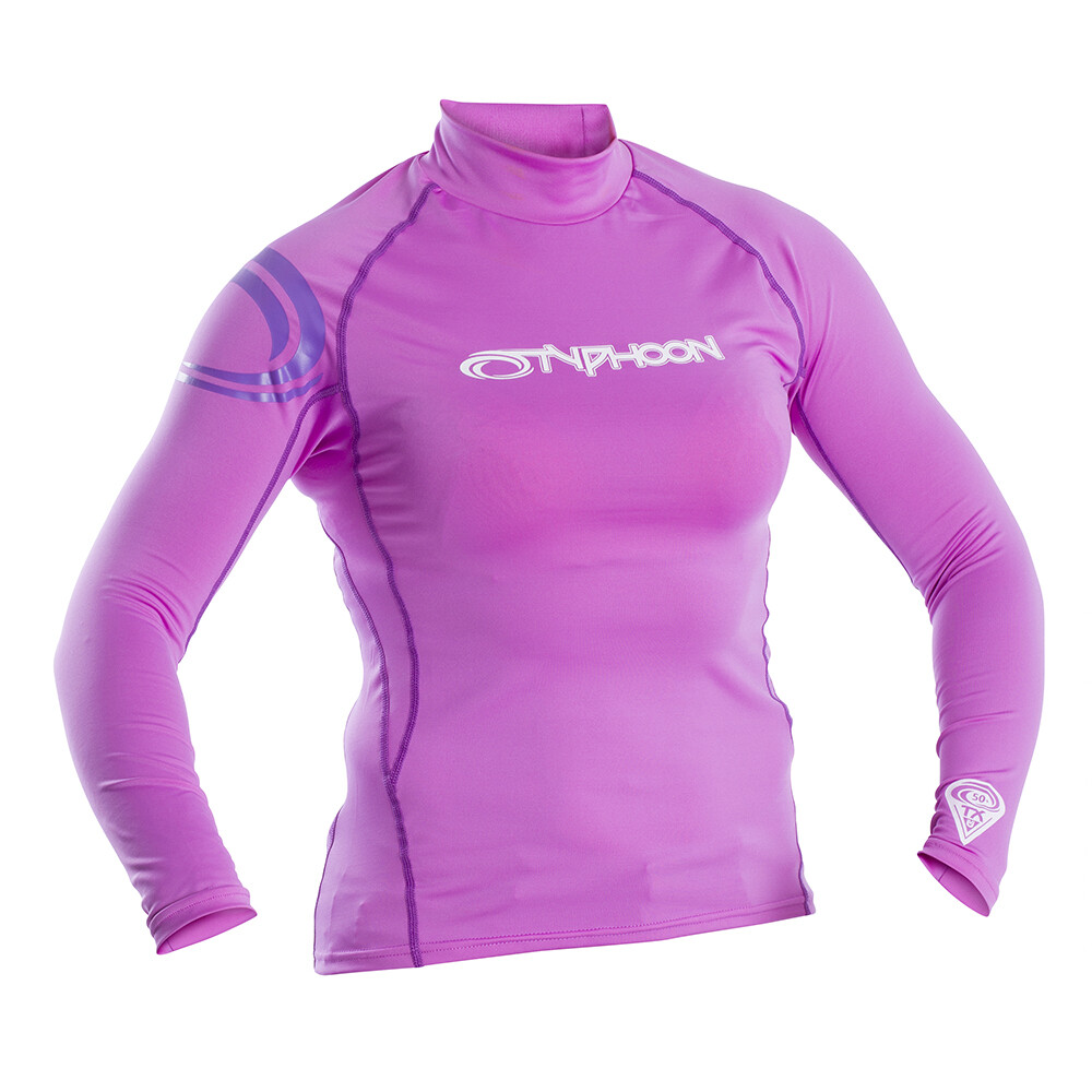 Womens Long Sleeve Rash Vest - Pink