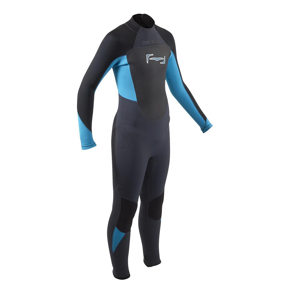 Response Junior 5:3 Steamer Wetsuit - Black Blue
