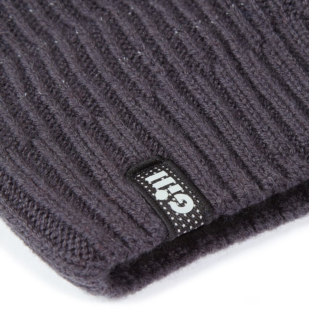 Reflective Knit Beanie - Graphite