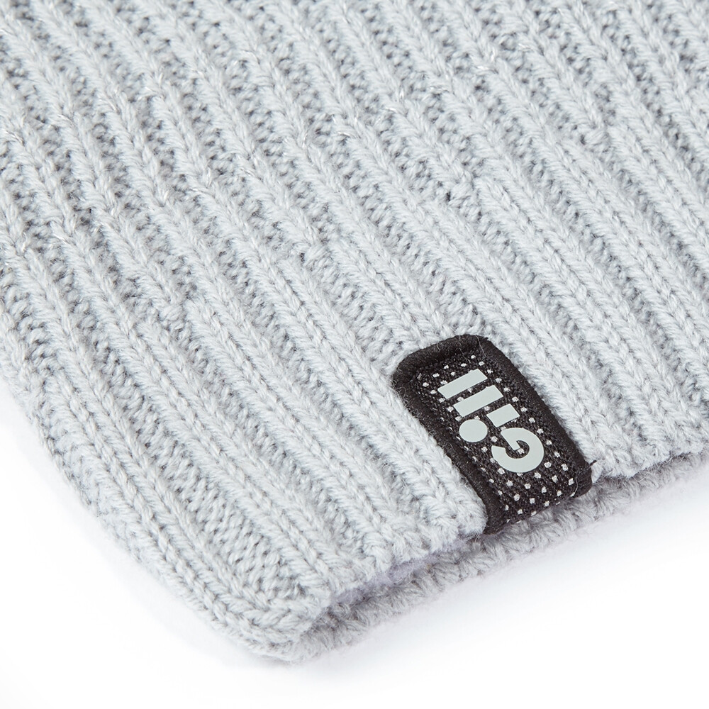 Reflective Knit Beanie - Medium Grey