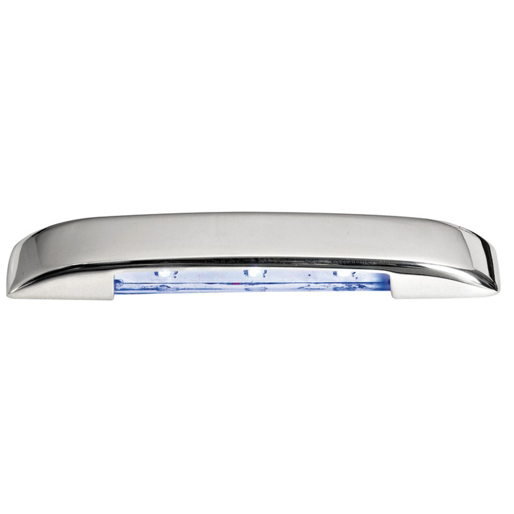 Stainless Steel 3 LED Courtesy Light - Blue Down