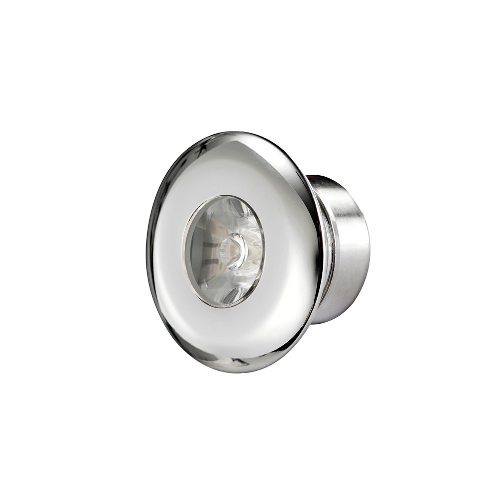 Stainless Steel LED Round Courtesy Light - White