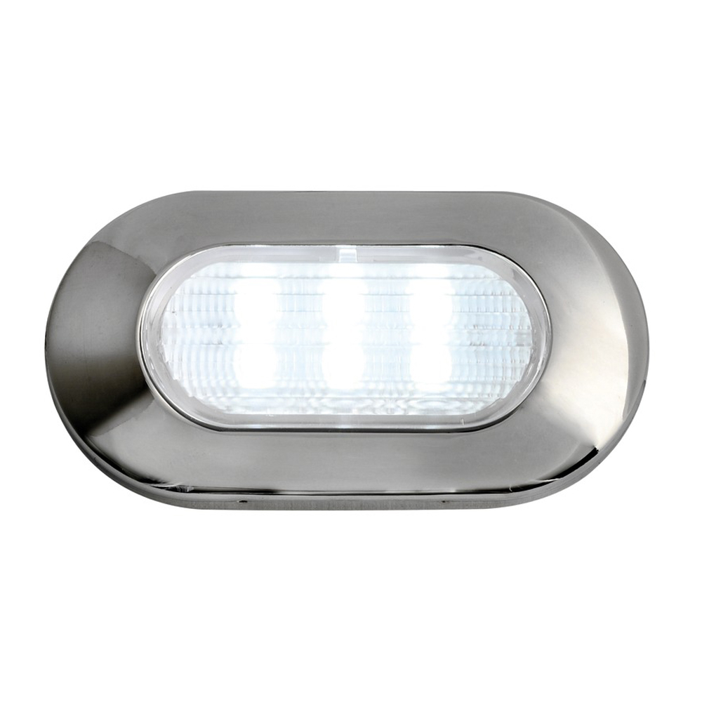 Oval 6 LED Courtesy Light Flush Mount