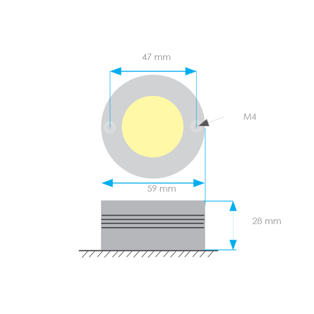 Aluminium LED Spreader Light