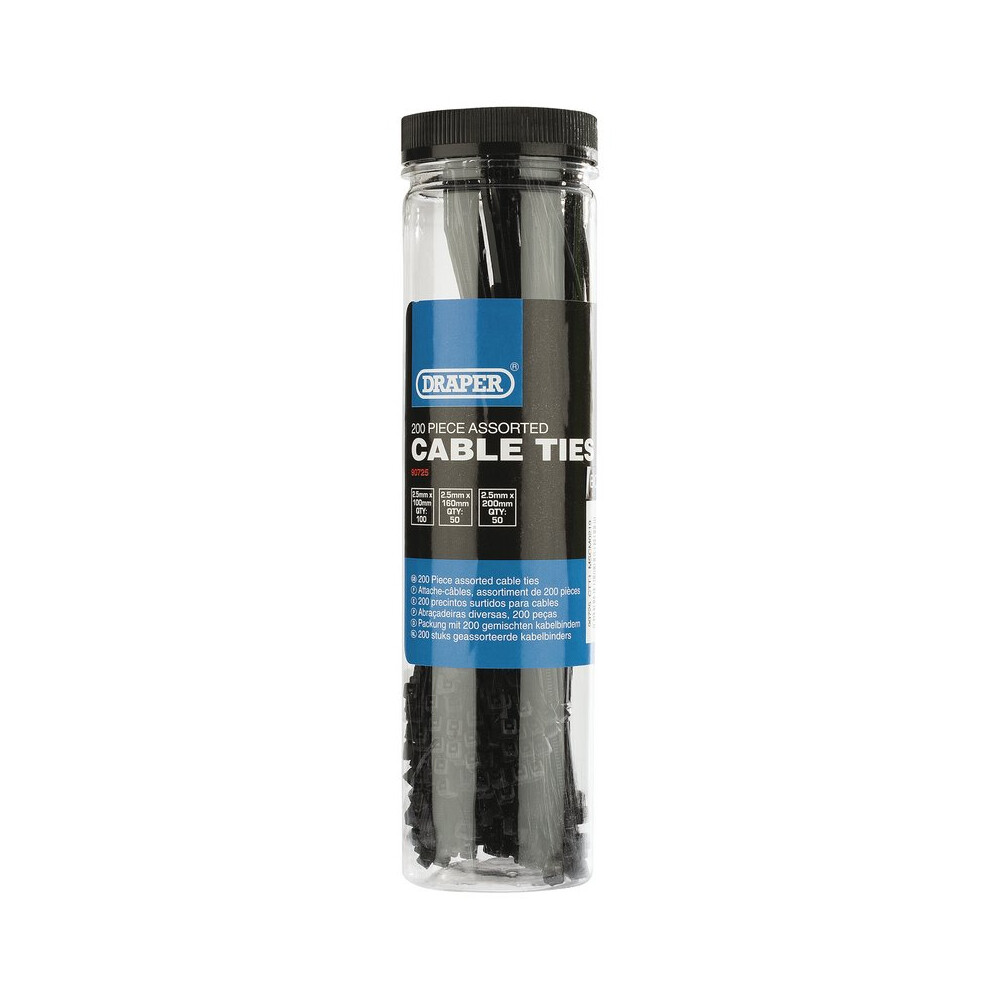 Cable Tie Pack - 200 Piece