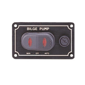 Waterproof Bilge Pump Rocker Switch - Horizontal