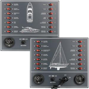 14-Way Circuit Breaker Control Panel with Voltmeter Ammeter + Battery Isolator