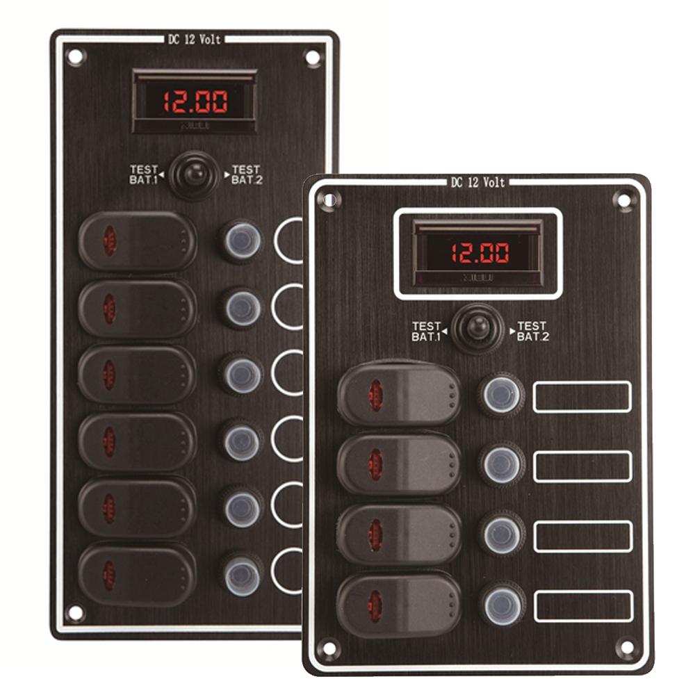 Waterproof Switch Panel with Digital Voltmeter