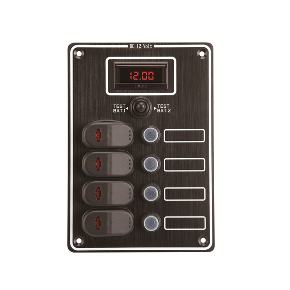 Waterproof Switch Panel with Digital Voltmeter