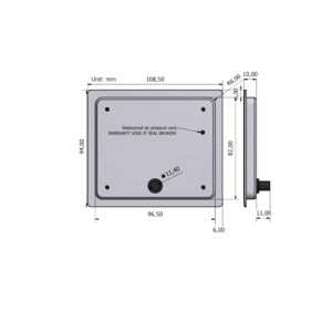 PICO Standard Display Black Panel Mount