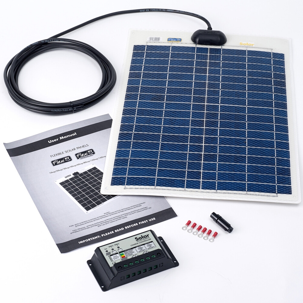 20w Flexi Solar Panel Kit with 10Ah Controller