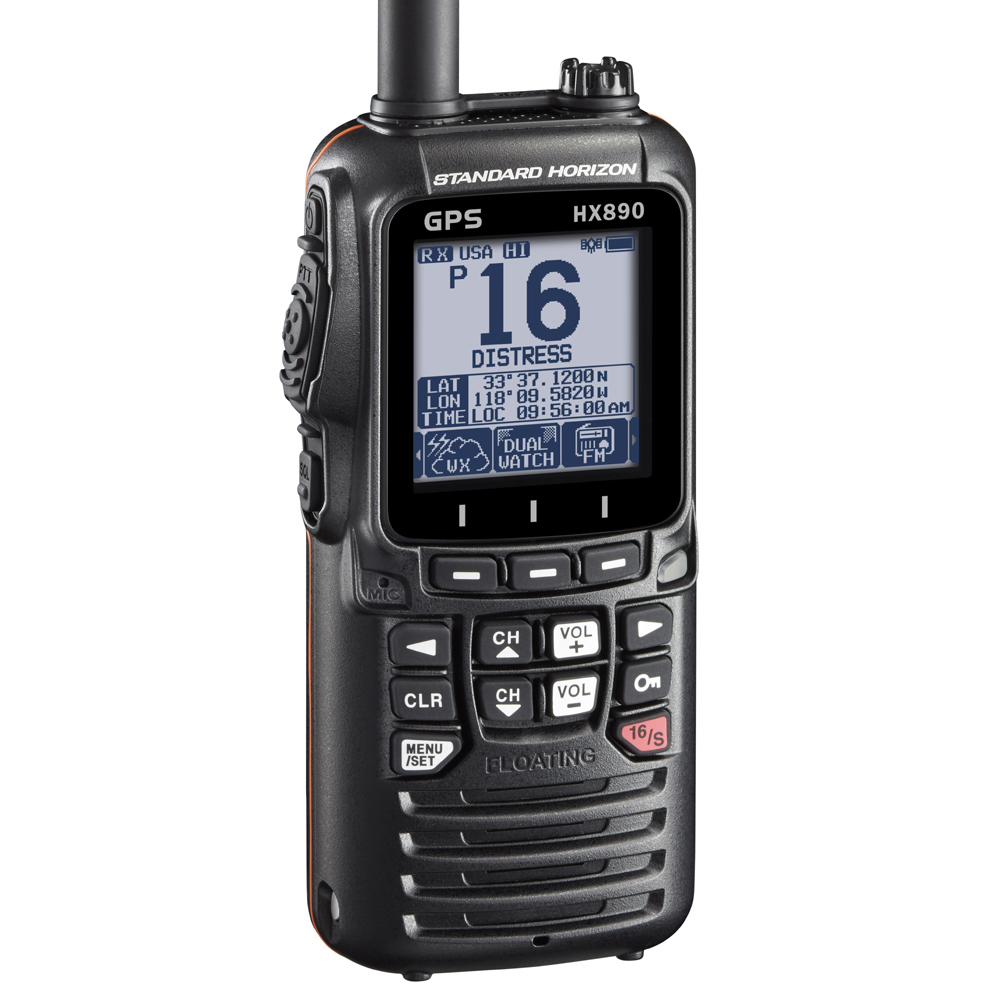 HX890e Floating DSC Handheld VHF Radio