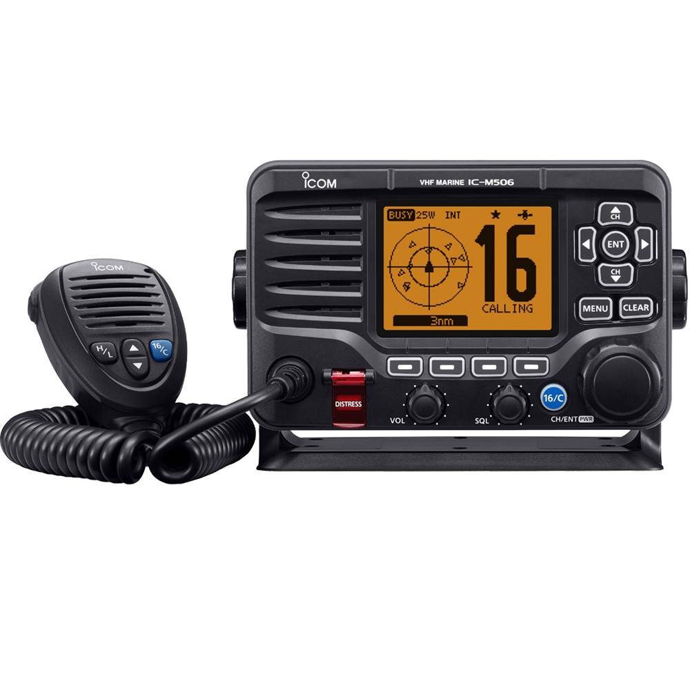 IC-M506GE DSC VHF Radio with GPS and AIS Receivers