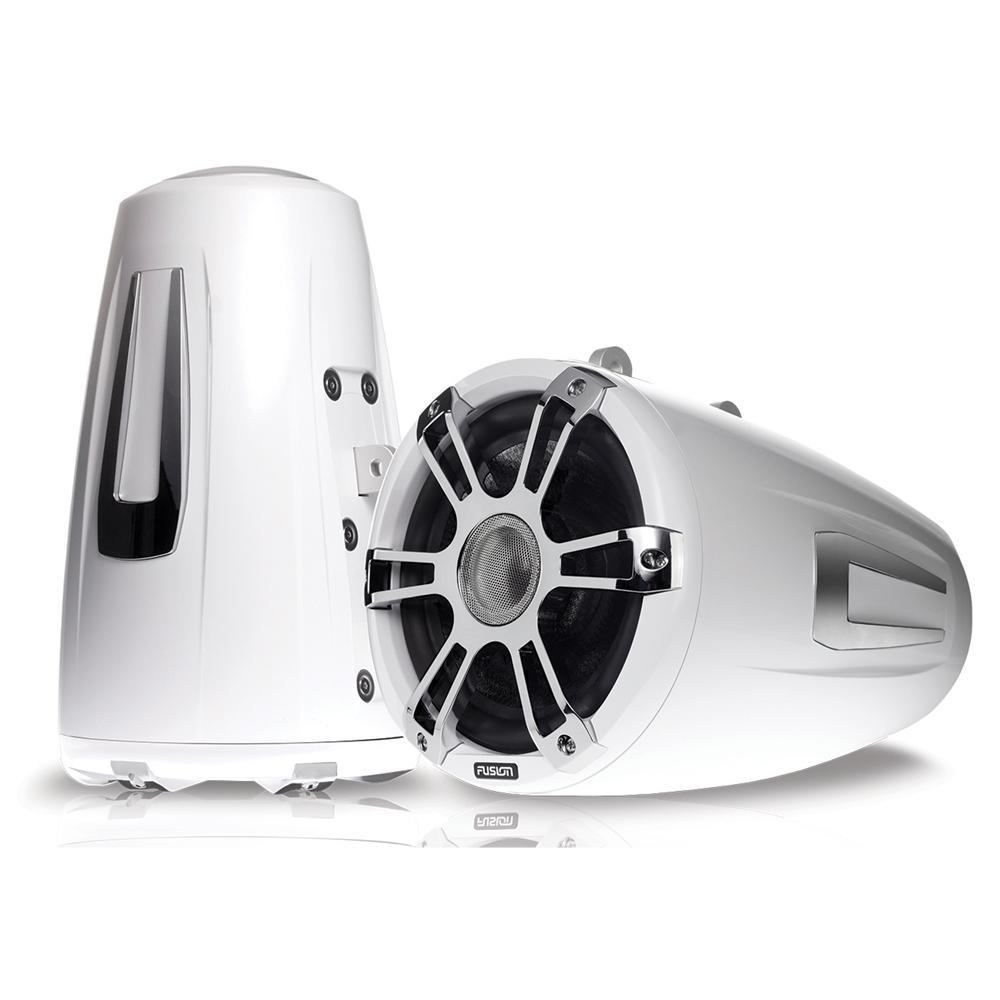 Signature 8.8 Wake Tower Sports Speakers Chrome White